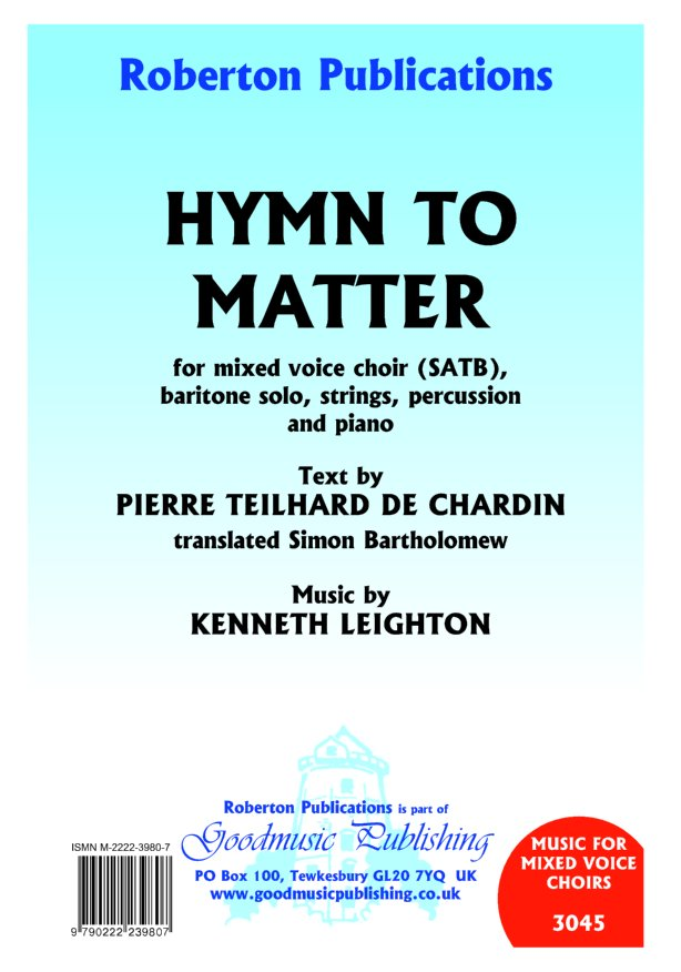 Hymn To Matter (cantata) image