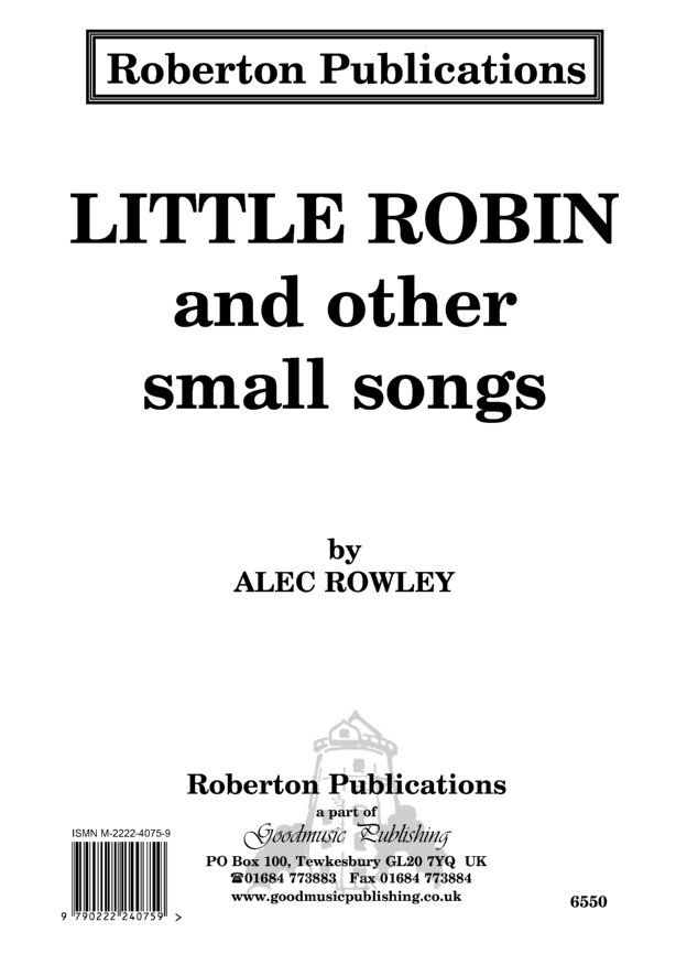 Little Robin & Other Small Songs image