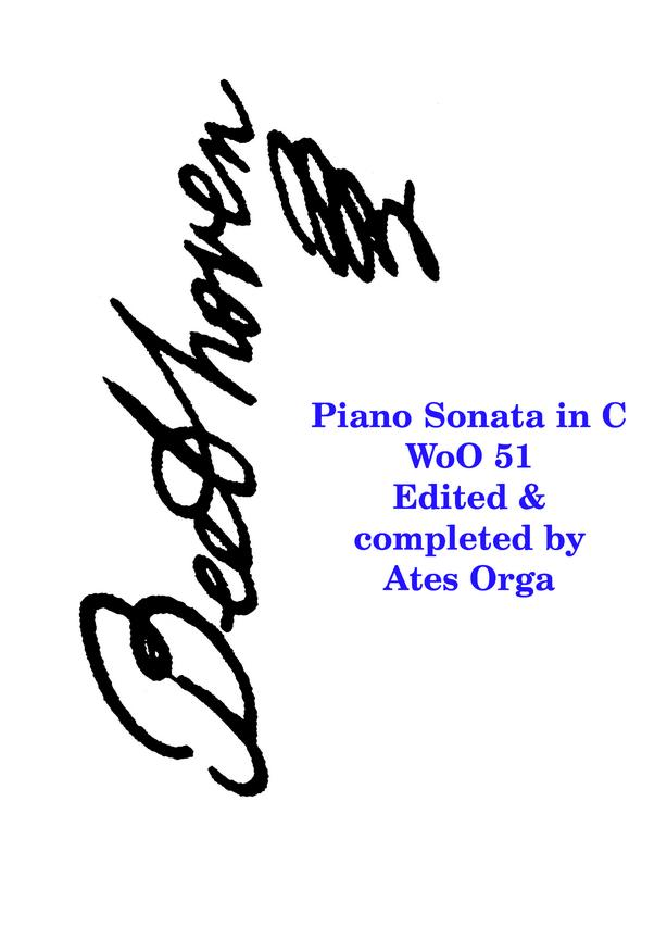 Sonata in C Woo51 (completed Orga) image