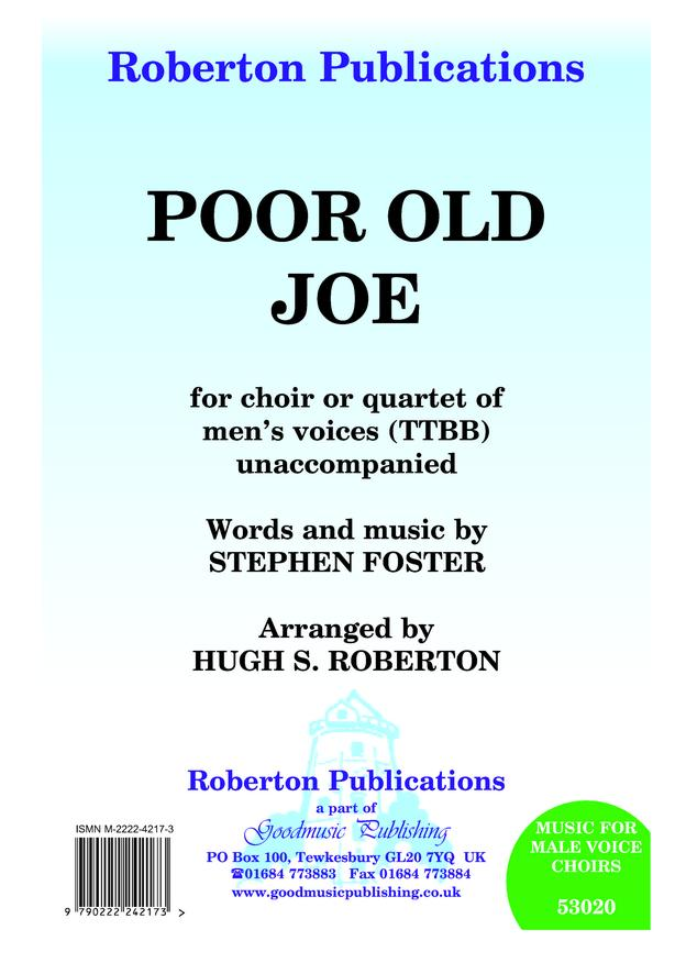 Poor Old Joe (arr.Roberton) image