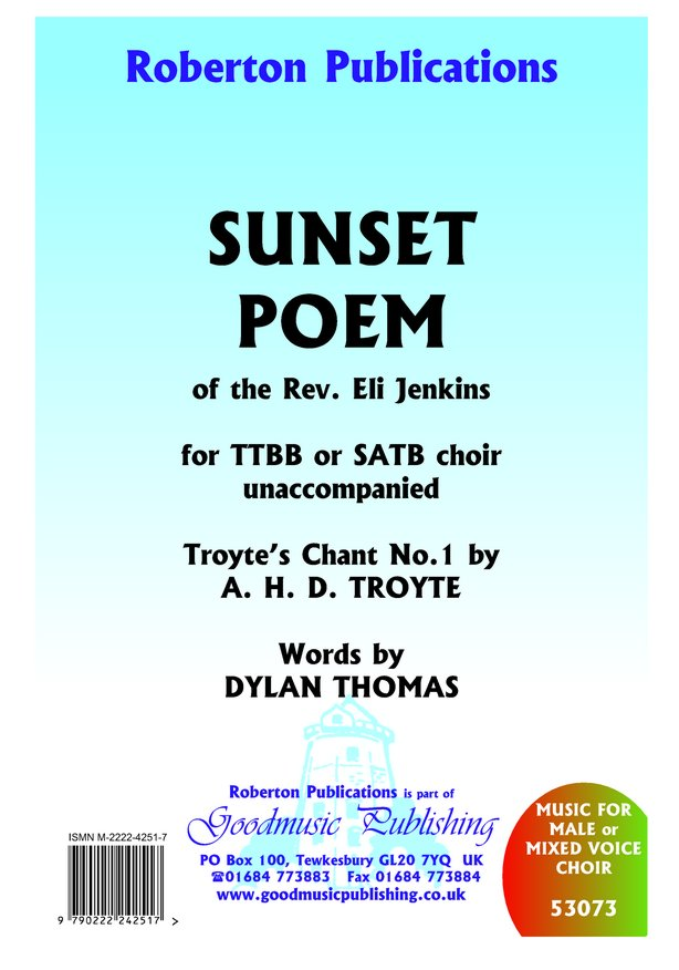 Sunset Poem (Troyte's Chant No.1) image