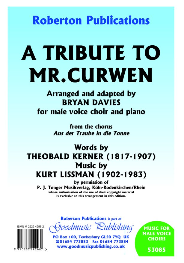 Tribute To Mr.Curwen image