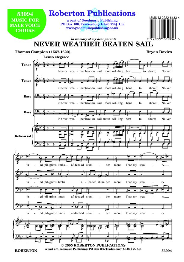 Never Weather Beaten Sail image