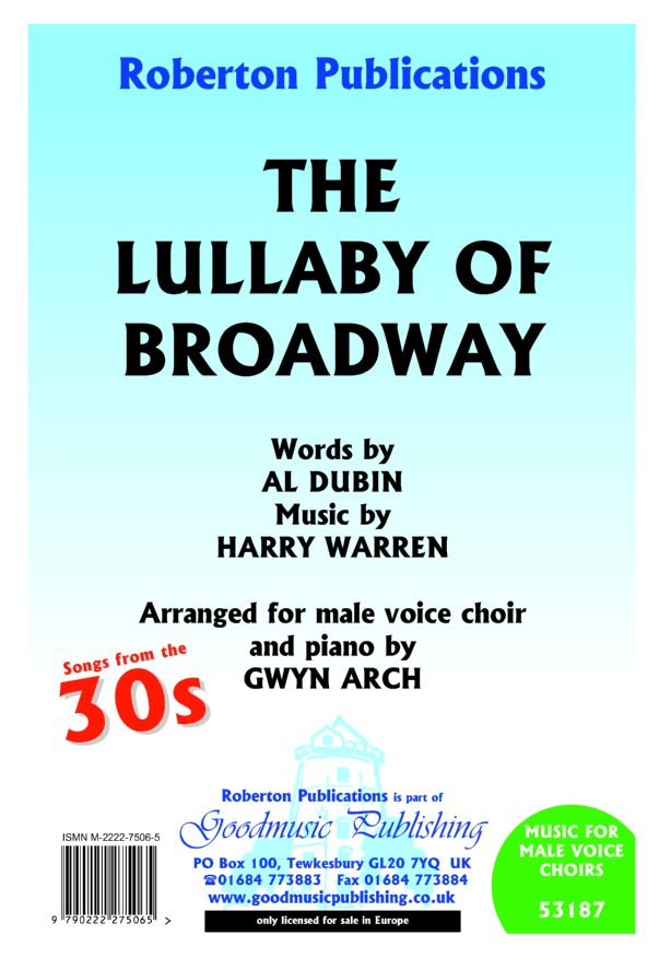 Lullaby of Broadway (arr.Arch) image