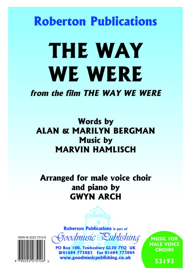 The Way We Were (arr.Arch) image