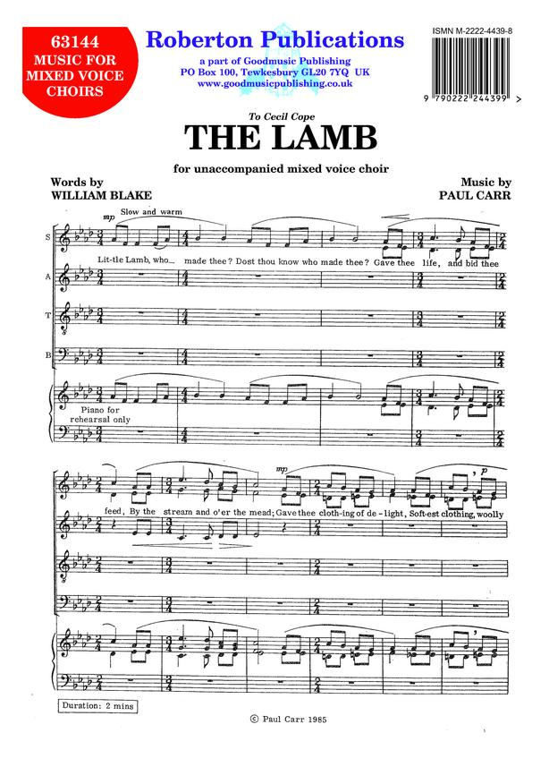 Lamb (First setting 1985) image