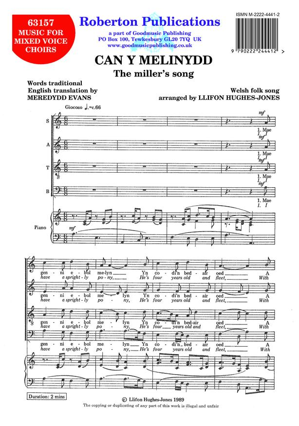Can y Melinydd (Miller's Song) image