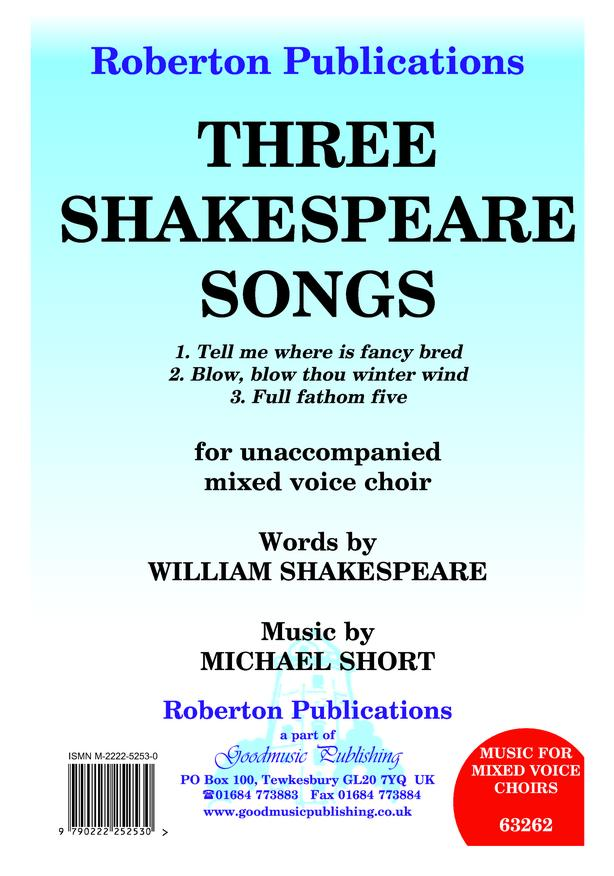 Three Shakespeare Songs image