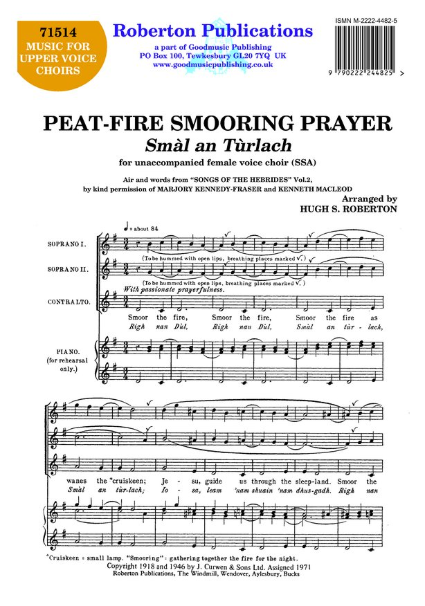 Peat Fire Smooring Prayer image