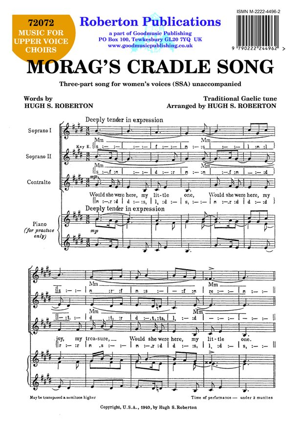Morag's Cradle Song image