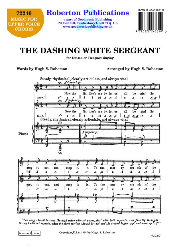 Dashing White Sergeant (unis/2pt) image