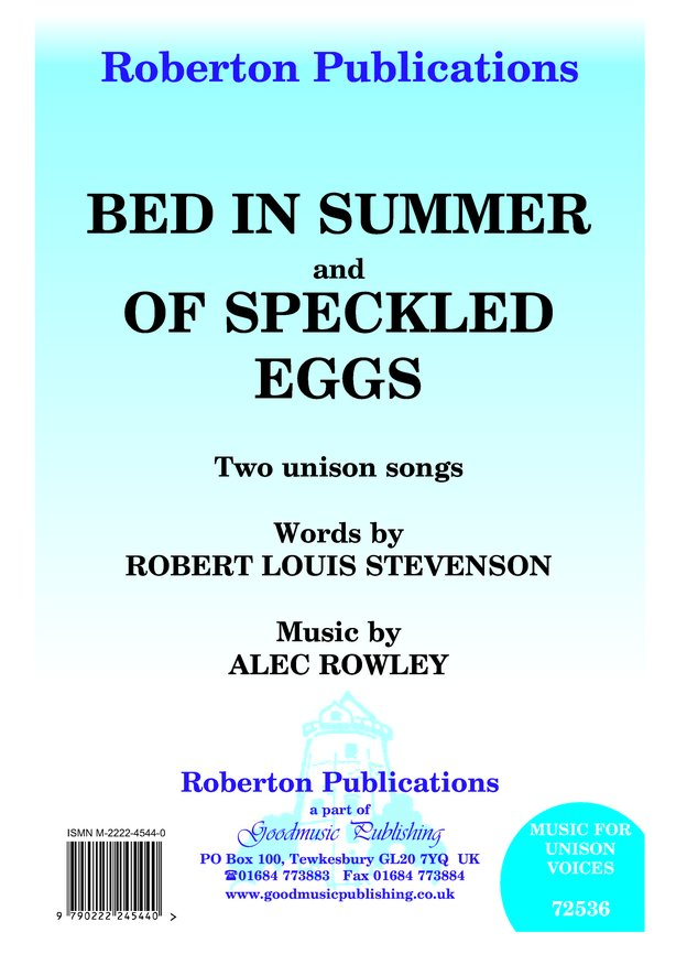 Bed in Summer / Of Speckled Eggs image