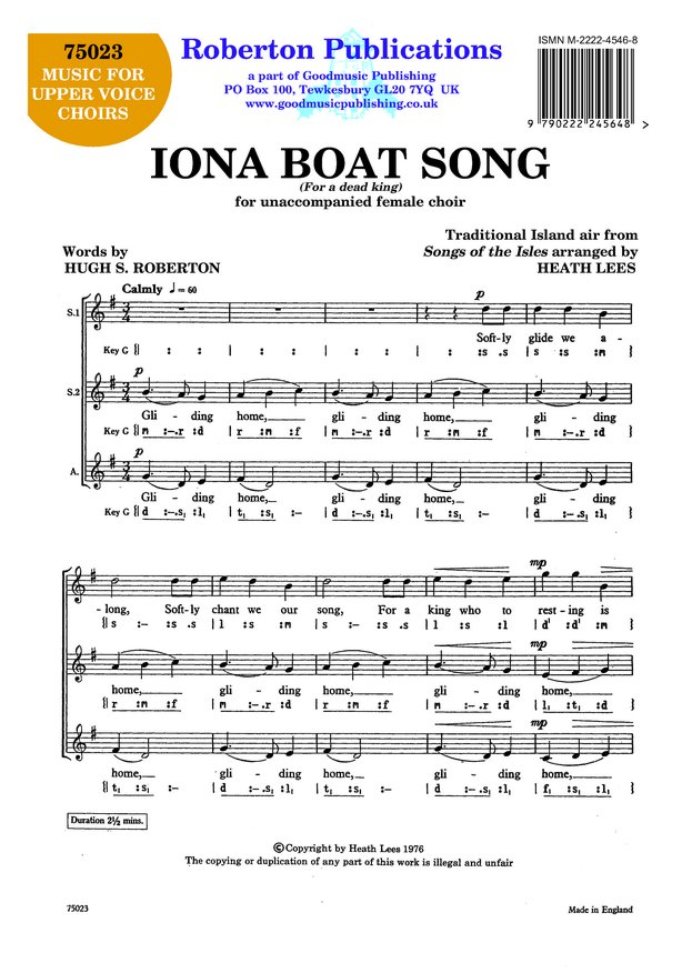 Iona Boat Song image