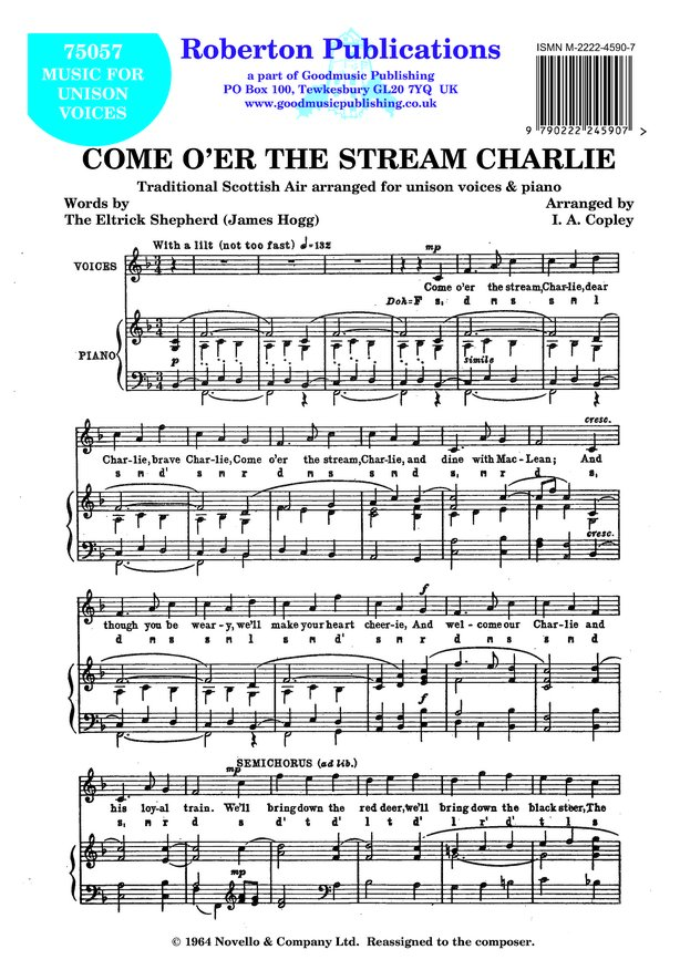 Come O'er the Stream Charlie image