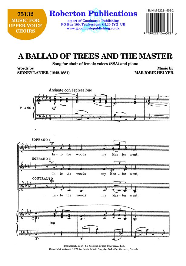 Ballad of Trees and the Master image