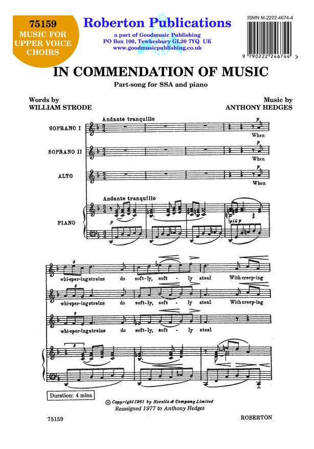 In Commendation of Music image