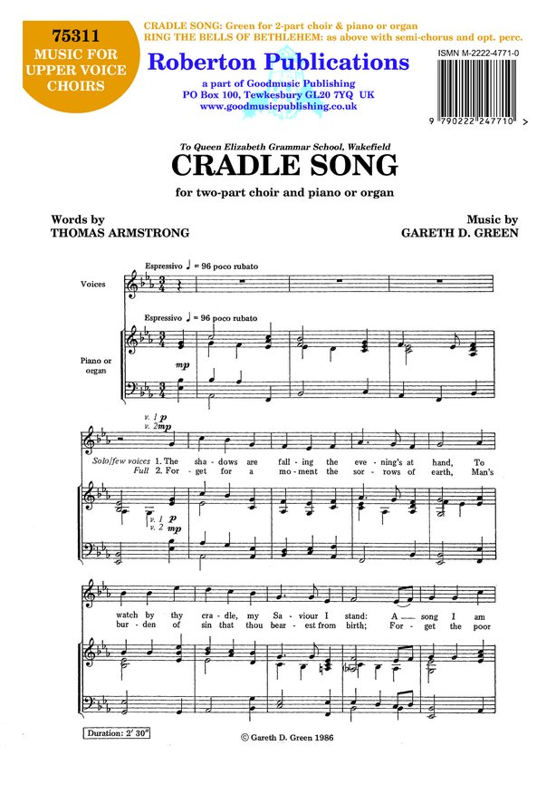 Cradle Song / Ring the Bells..... image