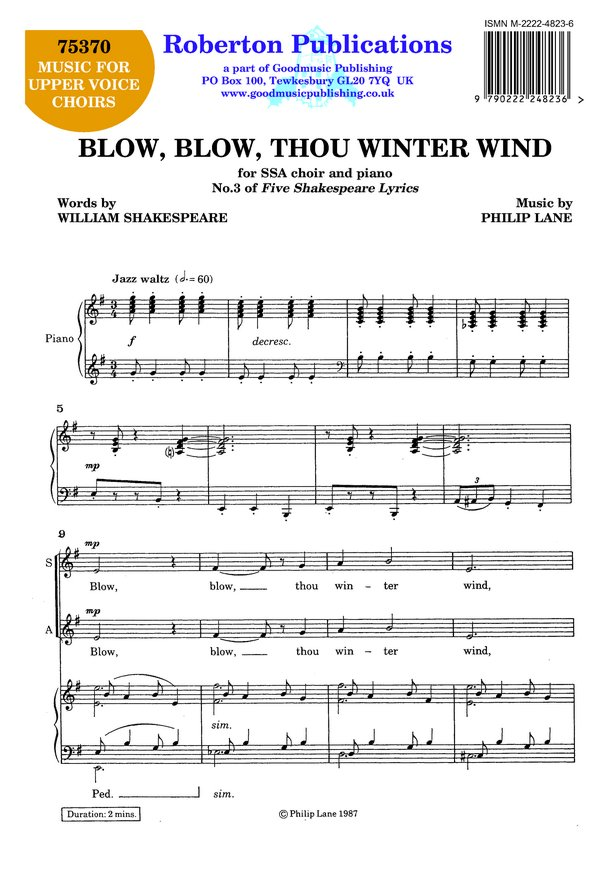 Blow Blow Thou Winter Wind image