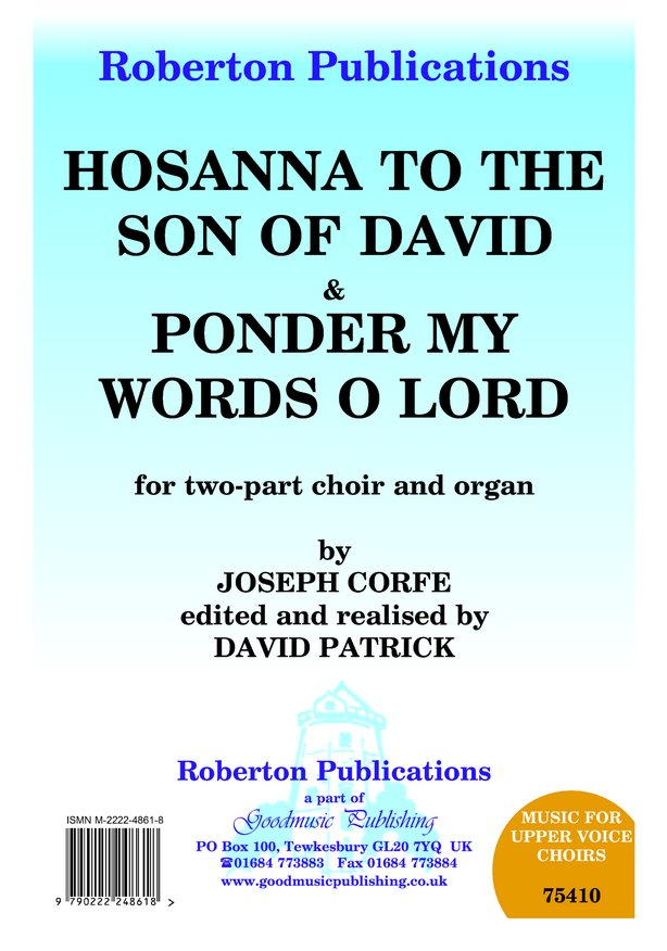 Hosanna To the Son/Ponder My Words image