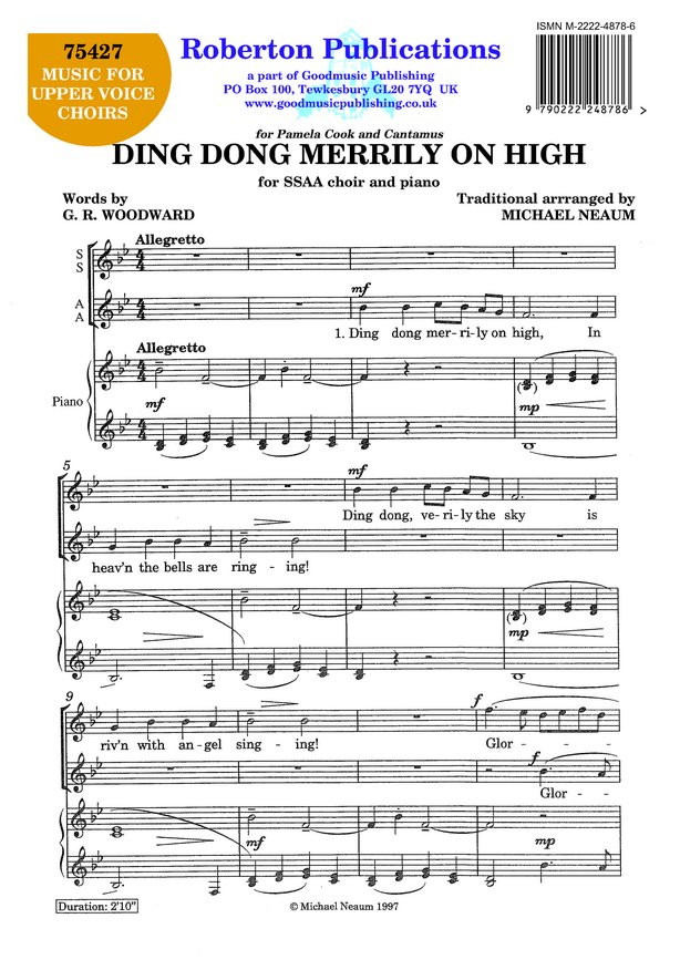 Ding Dong Merrily On High image