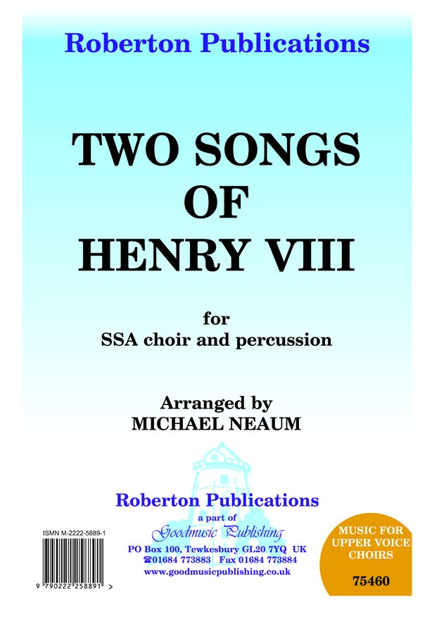 Two Songs of Henry VIII image