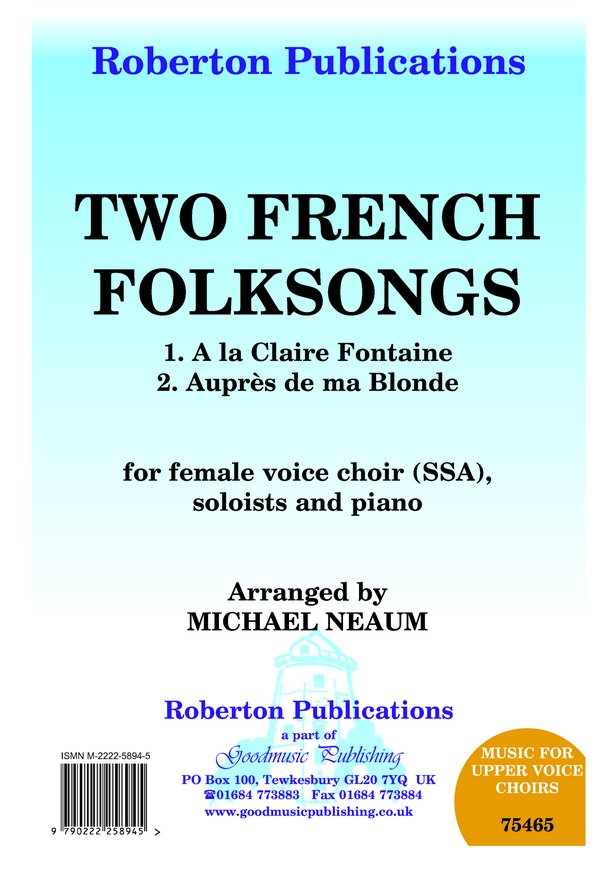 Two French Folksongs image