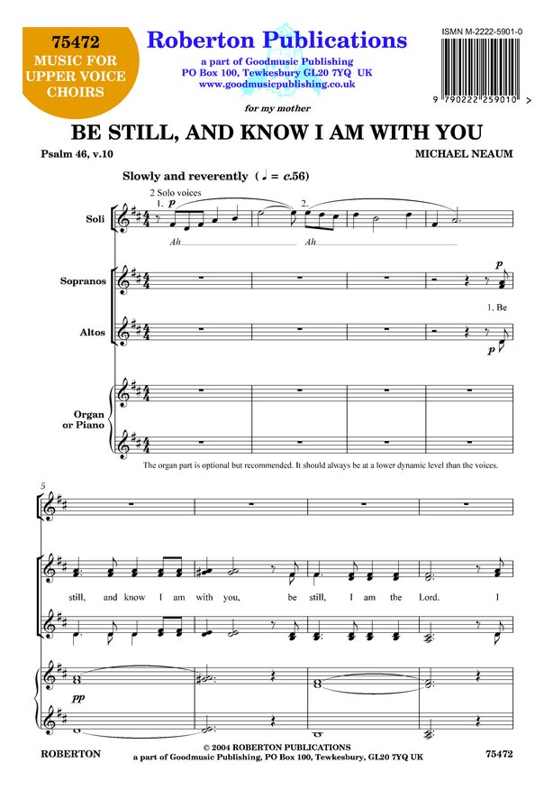 Be Still and Know I Am With You image