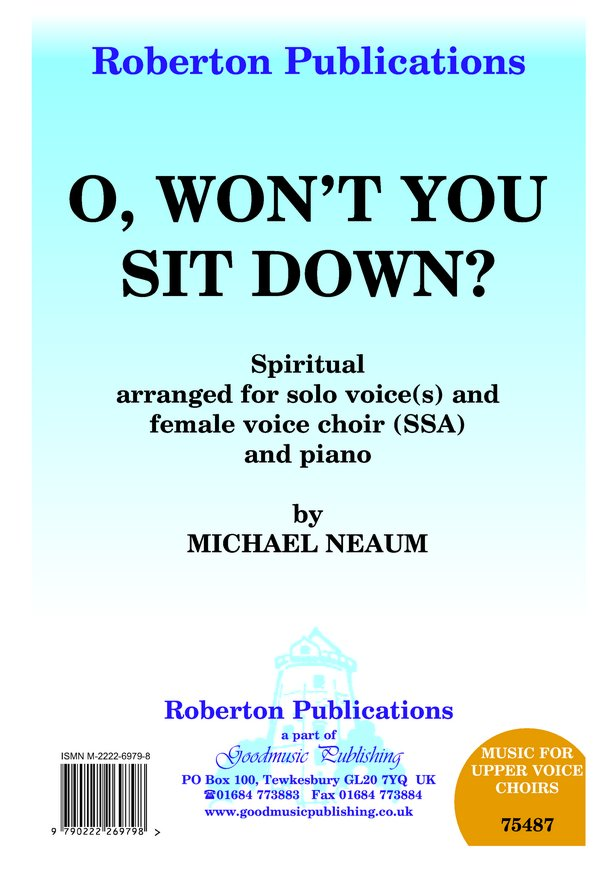 O Won't You Sit Down? image