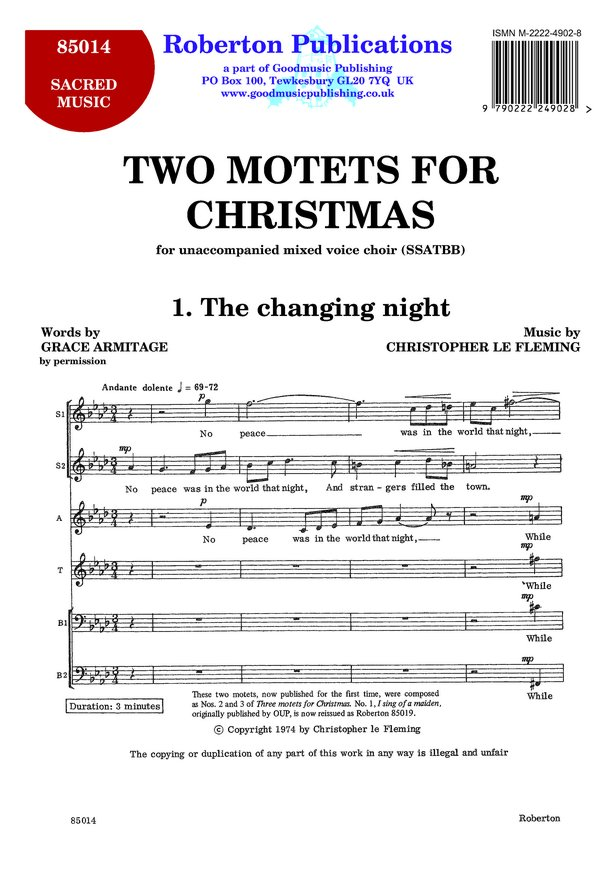 Two Motets for Christmas image