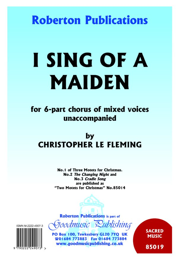 I Sing of A Maiden image
