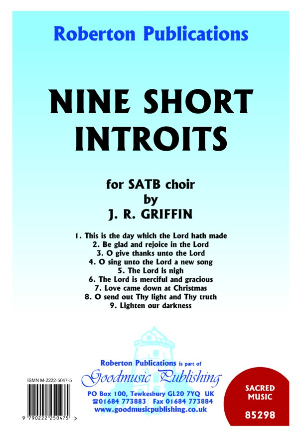 Nine Short Introits image