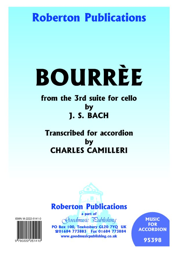 Bourree (from Cello Suite 3) image