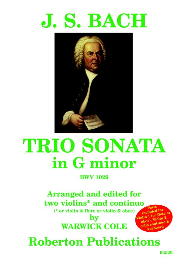 Trio Sonata in Gm Bwv 1029 (Cole) image