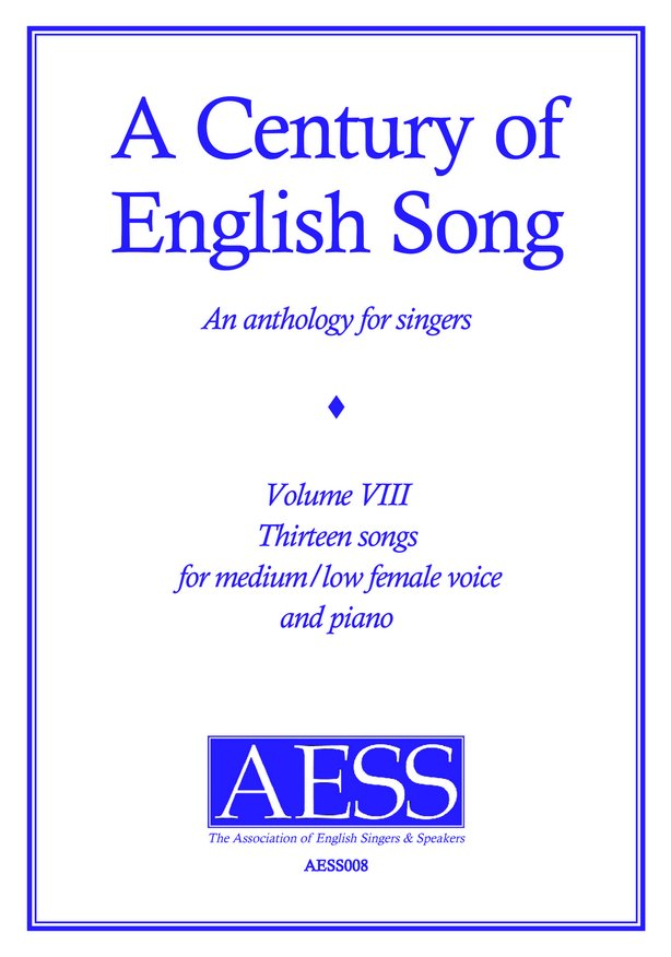 Century of English Song Volume  8 image
