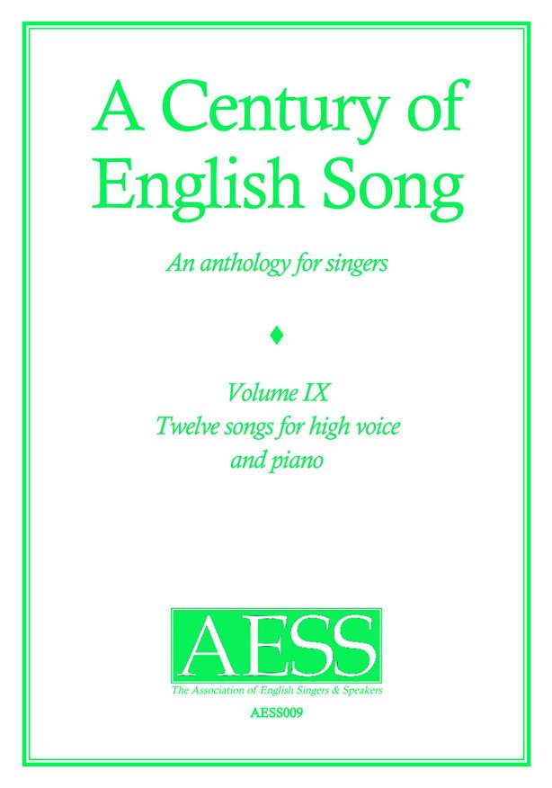 Century of English Song Volume  9 image