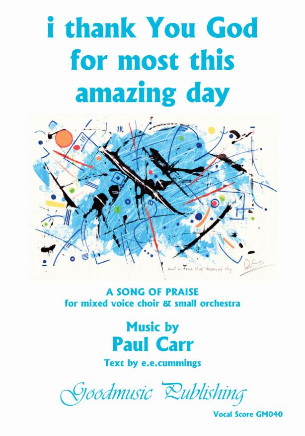 I Thank You God Vocal Score image