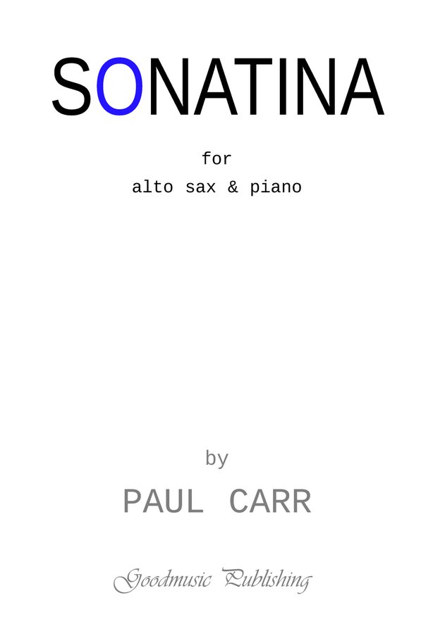 Sonatina for alto sax and piano image