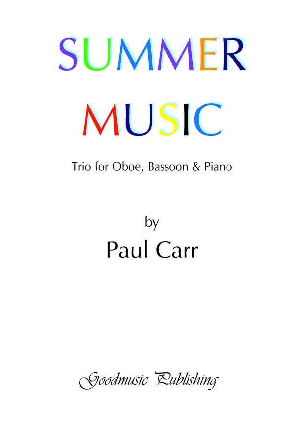 Summer Music - Oboe/Bassoon/Piano image