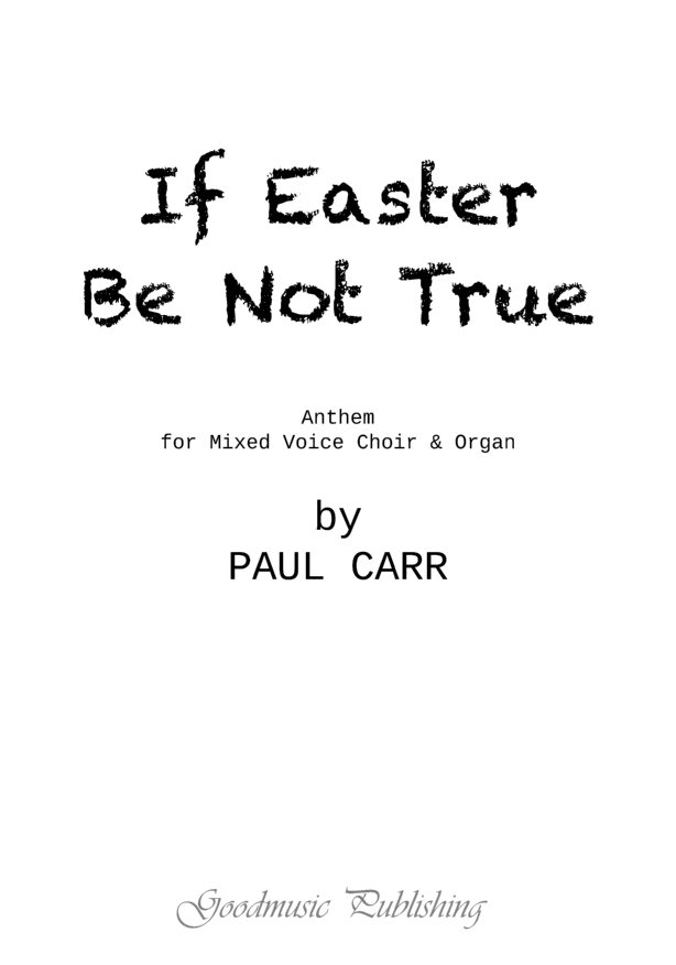 If Easter Be Not True image