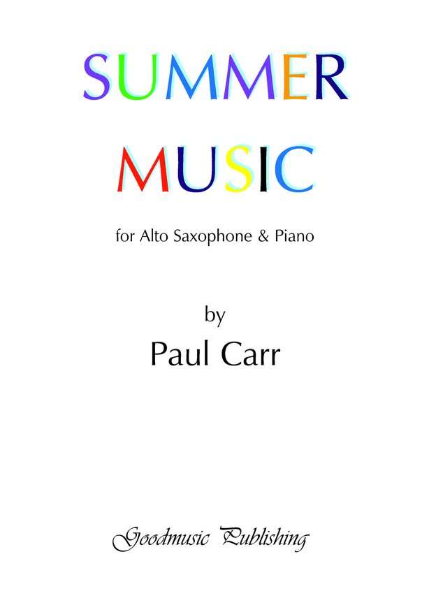 Summer Music for alto sax image