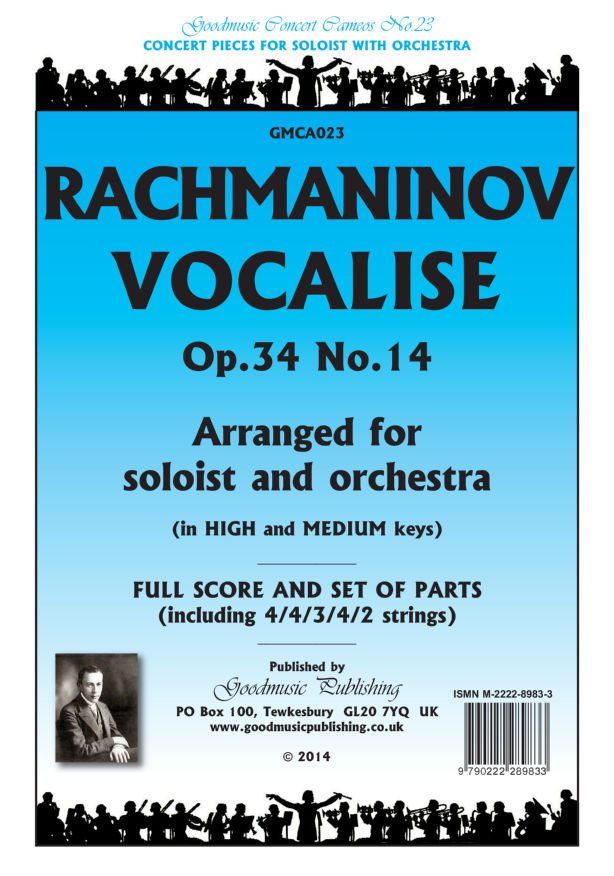 Vocalise solo+orch  Pack image